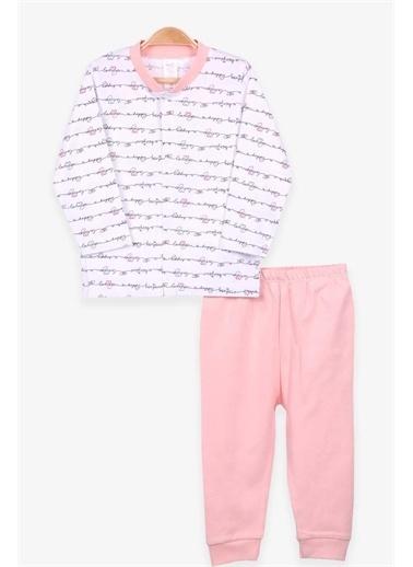 Breeze Kız Bebek Pijama Takımı Kalpli Beyaz  Beyaz
